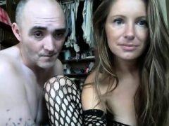 Reife Blondine hat Spaß bei Videochat