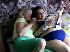 Oma verführt ein dickes Küken