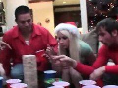 Weihnachten Sex-Party mit College-Teenager aus