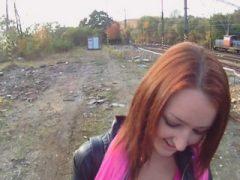 POV Cocksucking mit abgeholtem Redhead jugendlich