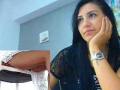 Upskirt auf Webcam kolumbianischen Teen