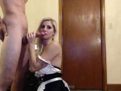 Amateur Blonde Frau Blowjob