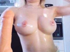 Big Boobs Nippel Blonde asiatische Frau