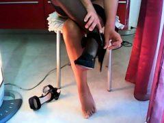 Fuß- und Nylonfetisch