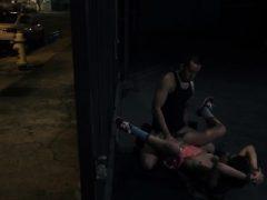 Hardcore-Girl an der Spitze beim ersten Mal Er zieht Joseline nackt aus,
